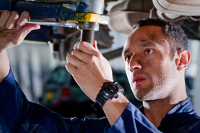 Engine repair work